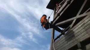 práce ve výšce - výcvik